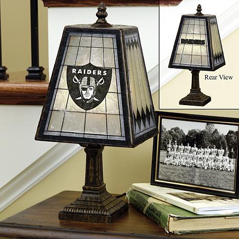 Handpainted Art Glass Team Lamp - Oakland Raiders - NFL