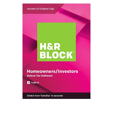 H&R Block Deluxe Tax Software for Federal Taxes