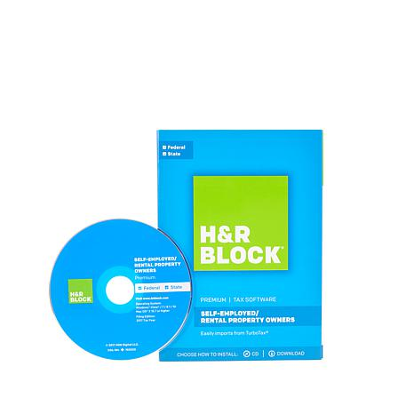H&R Block Premium Tax Software with Online Chat