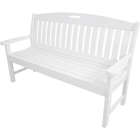 "Hanover All-Weather Avalon 60"" Porch Bench - White"
