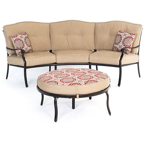 Hanover Traditions 2pc Seating Set w/Ottoman & Pillows