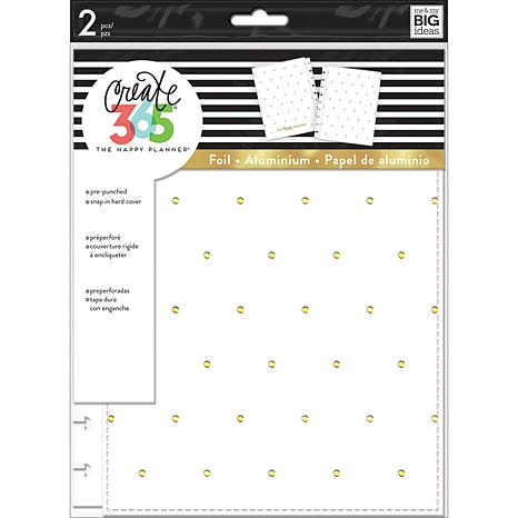 Happy Planner Medium Snap-In Hard Planner Cover - White with Gold Dots