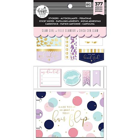 Happy Planner Note Cards/Sticky Note Multi Pack - Glam Girl, 377-pack