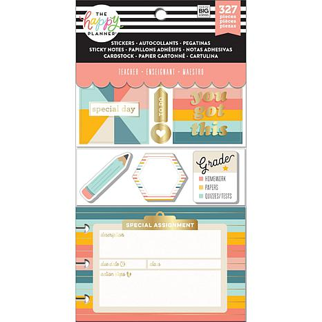 Happy Planner Note Cards/Sticky Note Multi Pack - Retro Teacher