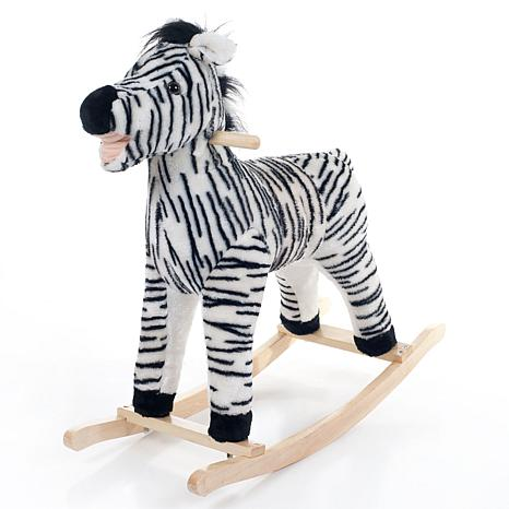 Happy Trails Plush Rocking Animal - Zebra
