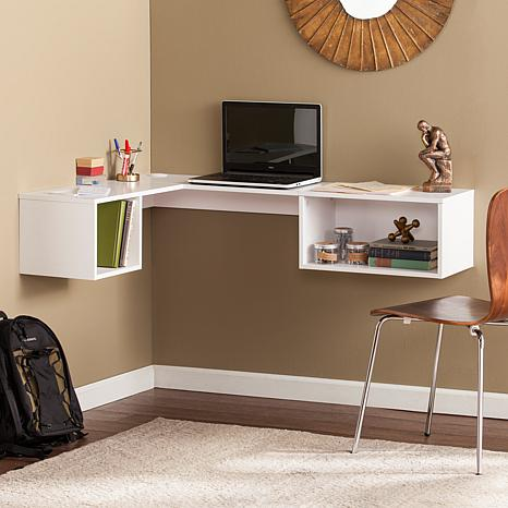 Harlan Wall-Mount Corner Desk - White