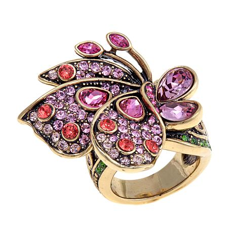 "Heidi Daus ""Beautiful Butterfly"" Crystal Ring"