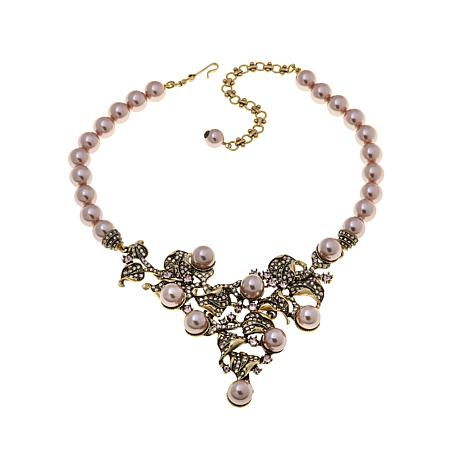"Heidi Daus ""C'est Magnifique"" Beaded Drop Necklace"