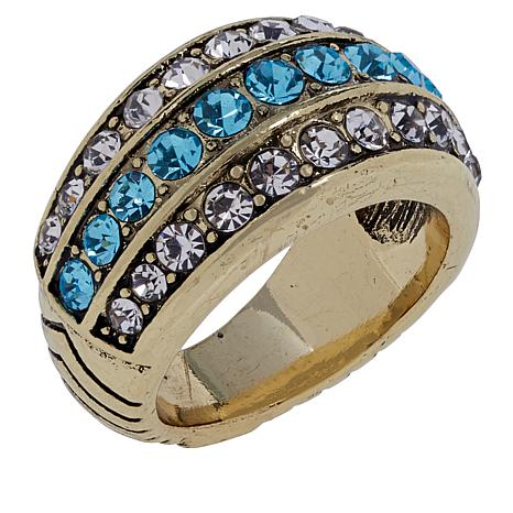 """Heidi Daus """"Chain of Events"""" Pavé Crystal Ring"""