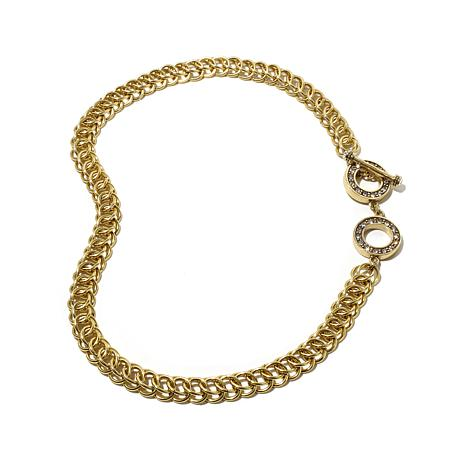 """Heidi Daus """"Charming Chain"""" Crystal Link Necklace"""