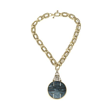 """Heidi Daus """"Chinoise Chic"""" Reversible Drop  Necklace"""
