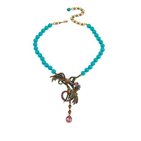 "Heidi Daus ""Chirp and Cheerful"" Beaded Crystal Drop Necklace"