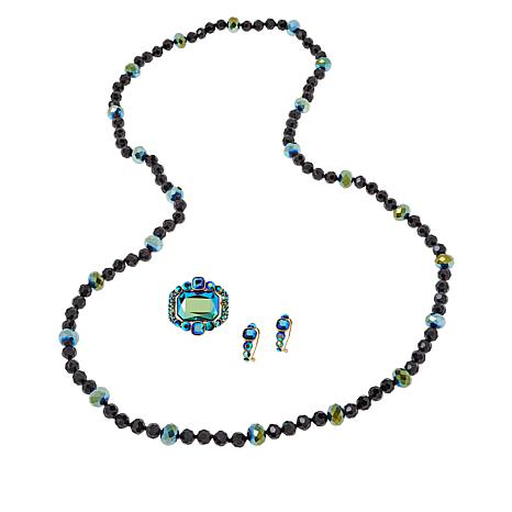 Heidi Daus Classic Choice Necklace, Pin and Earring Set