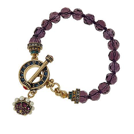 "Heidi Daus ""Close to the Heart"" Beaded Crystal Toggle Bracelet"