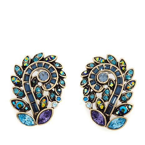 """Heidi Daus """"Couture in Bloom"""" Crystal Earrings"""