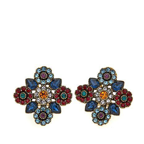 "Heidi Daus ""Divine Inspiration"" Cross Earrings"