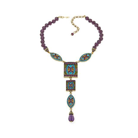 "Heidi Daus ""Divinely Deco"" Beaded Crystal Drop Necklace"