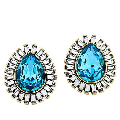 "Heidi Daus ""Enchante"" Button Earrings"