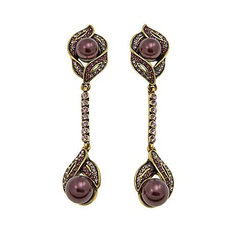 "Heidi Daus ""Exceptionally Chic"" Crystal Drop Earrings"
