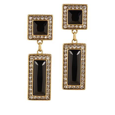 "Heidi Daus ""Fabulous Fancy Cut"" Crystal Drop Earrings"
