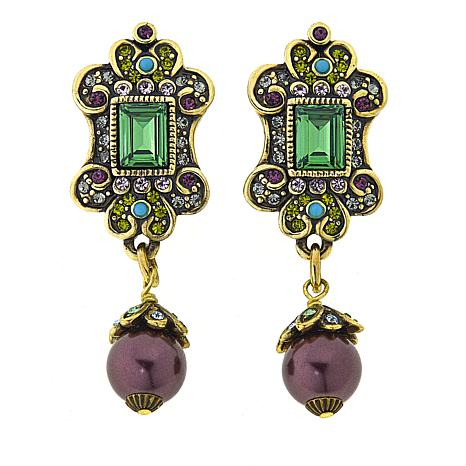 """Heidi Daus """"Faithful Expressions"""" Crystal-Accented Drop Earrings"""