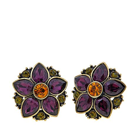 "Heidi Daus ""Fantasy in Florals"" Crystal Earrings"