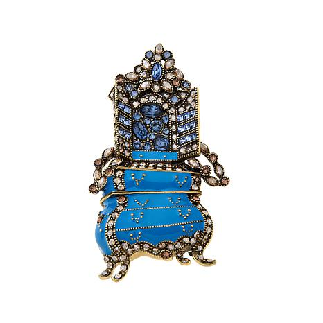 "Heidi Daus ""Garderobe"" Enamel and Crystal Pin"