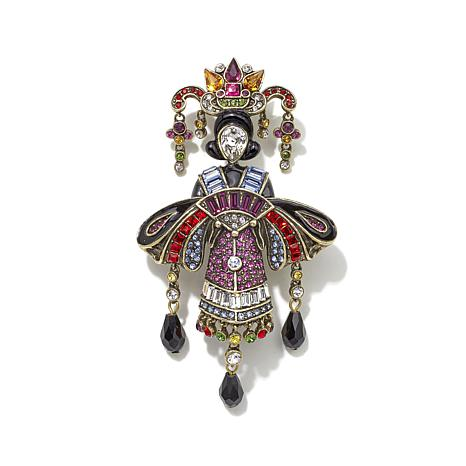 "Heidi Daus ""Geisha Glamour"" Crystal and Enamel Pin"
