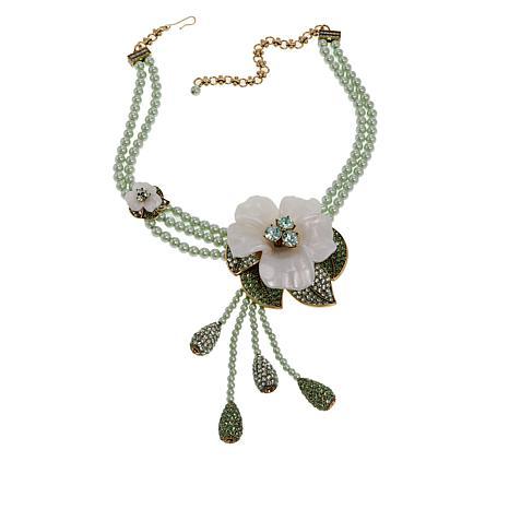 "Heidi Daus ""Glamorous Gardenia"" Beaded Drop Necklace"