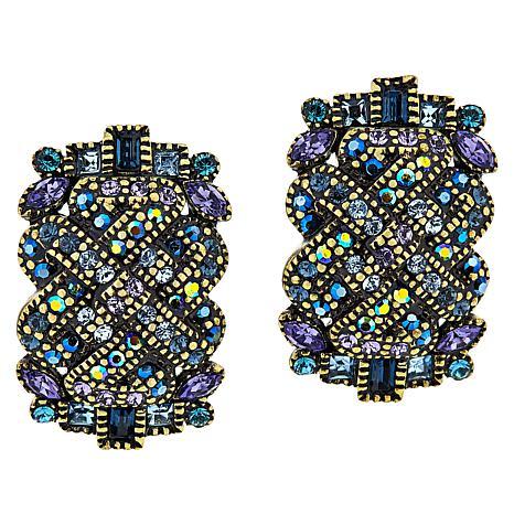 """Heidi Daus """"In Good Fortune"""" Crystal Earrings"""