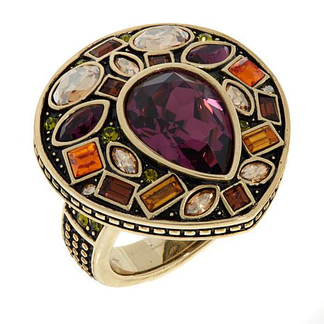 "Heidi Daus ""Magnificent Mosaic"" Crystal Ring"