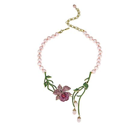 "Heidi Daus ""Mandalay Beauty"" Beaded Crystal Drop Necklace"