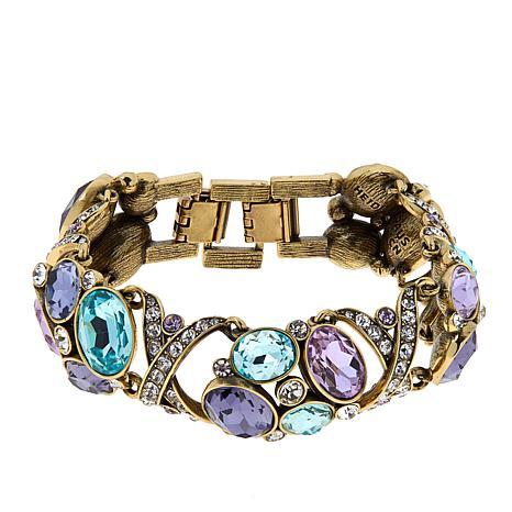 Heidi Daus Multi-Color Crystal Collar Bracelet