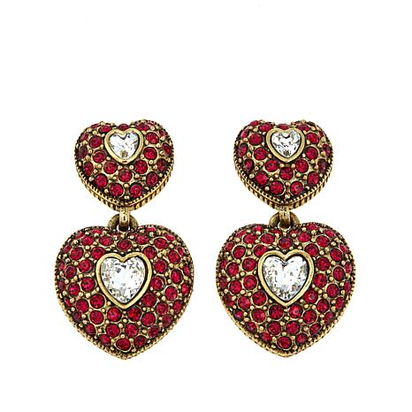 "Heidi Daus ""My True Love"" Pavé Crystal Drop Earrings"