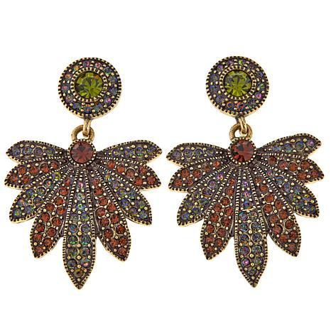"Heidi Daus ""Ohh Natural"" Crystal-Accented Drop Earrings"