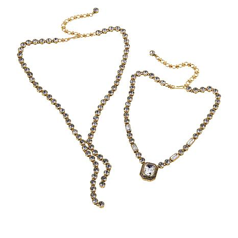 "Heidi Daus ""On-Line"" 2-piece Necklace Set"