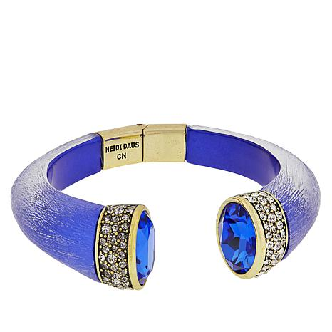 """Heidi Daus """"Say It With Style"""" Hinged Cuff Bracelet"""