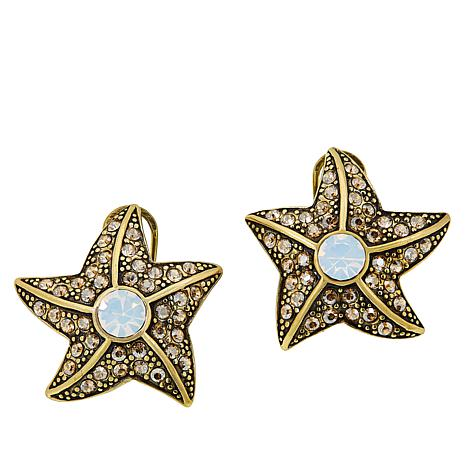 """Heidi Daus """"Seashore Chic"""" Crystal Earrings"""