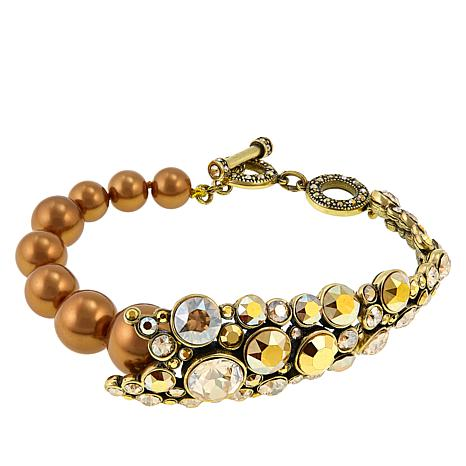 "Heidi Daus ""Simple and Stately"" Beaded Toggle Bracelet"