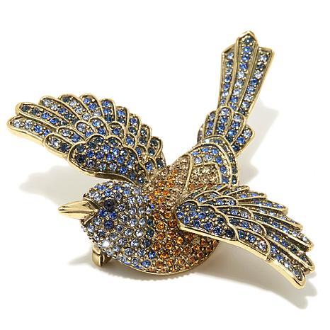 """Heidi Daus """"Sparkling Swallow"""" Pavé Crystal Pin"""