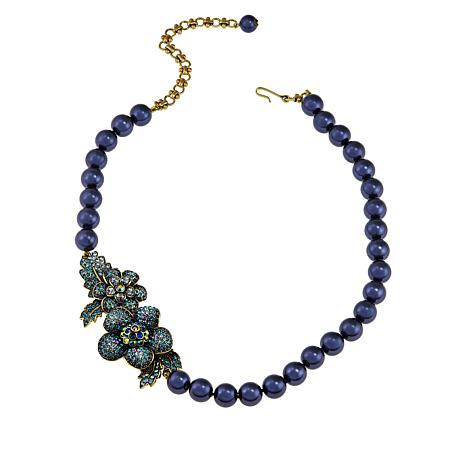 """Heidi Daus """"Sweet Nothing"""" Crystal Floral Station Necklace"""