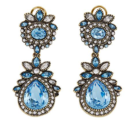 "Heidi Daus ""Tantalizing Teardrop"" Crystal Drop Earrings"