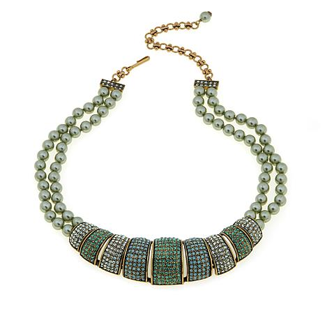 "Heidi Daus ""Tastefully Tiered"" Beaded 2-Row Necklace"