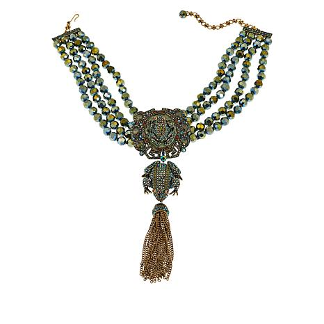 "Heidi Daus ""Toad-ally Fabulous"" Beaded Crystal Necklace"