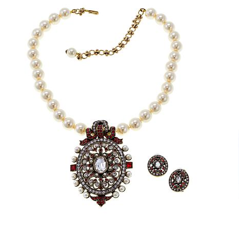 "Heidi Daus ""Victorian Splendor"" Crystal-Accented 3pc Jewelry Set"
