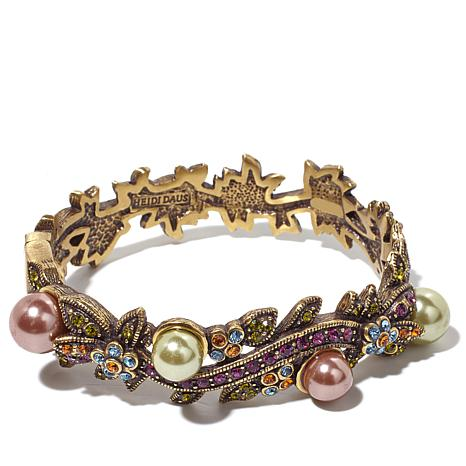 """Heidi Daus """"Vine and Divine"""" Crystal-Accented Bangle"""