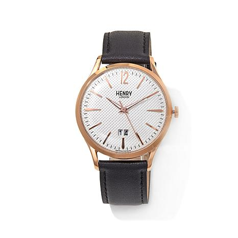 Henry London Richmond Rosetone White Dial Strap Watch