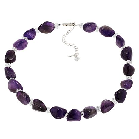 "Herkimer Mines 16"" Amethyst and Herkimer ""Diamond"" Quartz Necklace"