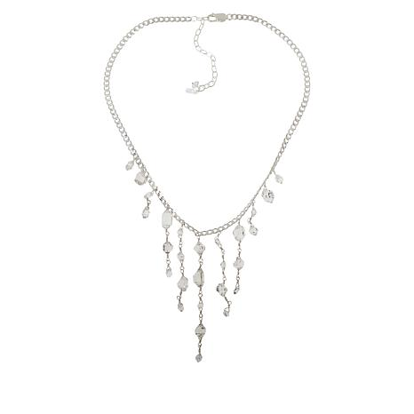 "Herkimer Mines ""Diamond"" Quartz Chain Drop Collar Necklace"