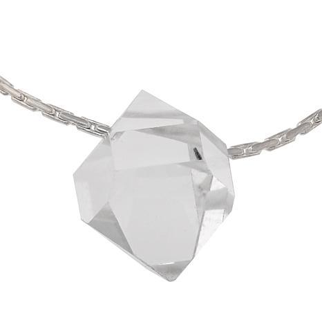 """Herkimer Mines Solitaire Herkimer """"Diamond"""" Quartz 16"""" Necklace"""